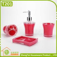 Quality Blue Black Red Green Top Selling Plastic Bathroom Set For Hotel Bathroom for sale