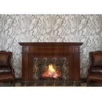 Wholesale Marble Printing Grey And White Wallpaper , Removable TV Background Wall Covering from china suppliers