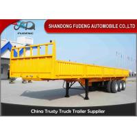 Wholesale Stake Cargo Trailer And 3 Axles Side Wall Semi Trailer For Transport Bulk Cargo from china suppliers
