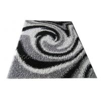 Wholesale Black / Grey Malai dori Polyester Shaggy Rug, Patterned Contemporary Area Rugs from china suppliers