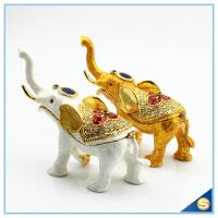 Wholesale Enamel Craft Creative Antique Elephant Trinket Box Home Decoration Jewelry Box SCJ722 from china suppliers