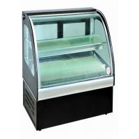 Quality Curved Glass Food Showcase Refrigerator Bakery Display Cases Easy Installation for sale