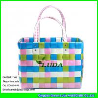 Wholesale LUDA colorful pp strap gift beach bag large pp straw shopping shoulder bag from china suppliers
