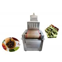China Microwave Stainless Steel Food Dehydrator Dryer Machine 400-500kg/H Capacity on sale