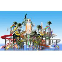 Wholesale Steel Aquatic Play Structure Fiberglass Slide Water Park for Commercial Park Play Equipment from china suppliers