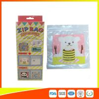 Quality Cartoon Custom Printed Resealable Bags With Zipper Top For Food / Candy / Cookies for sale