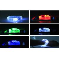 Wholesale Mix Color PS PVC LED Glow  Sound Activated Bracelets For Women Powered With Coin Battery CE ROHS from china suppliers