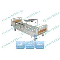 Wholesale 5'' Castor With Brakes Manual Hospital Bed With Collapsible ABS Side Rails from china suppliers