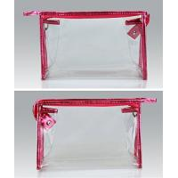 Quality Clear PVC Plastic Bag Ladies Toiletry Travel Vinyl Zipper Bags ECO - Friendly for sale