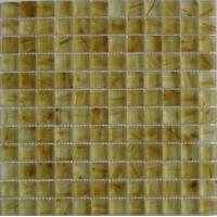 Buy cheap Decorative Glass Kitchen Mosaic Wall Tiles, Yellow Glass Mosaic Tiles For Fireplace from wholesalers