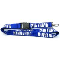 Wholesale Premium polyester satin stitched neck lanyards, corporate logo printed safety neck straps, from china suppliers