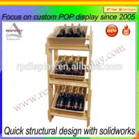 Buy cheap Custom wooden wine/beer retail store display stand from wholesalers