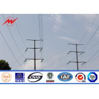 Buy cheap ASTM A572 Galvanized Electrical 10KV~500KV HDG Electric Steel Tubular Pole For Power Transmission Line from wholesalers