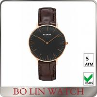 Wholesale Minimalist Design Understated Mens Plain Watches , Modern Womens Watches Big Face from china suppliers