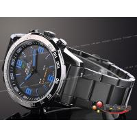 Wholesale Durable Chronograph Dual Time Wrist Watches LCD Date , Stainless Steel from china suppliers