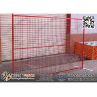 Wholesale 6ft*9.5ft Portable Temporary  Fencing Panels with highly visible powder coat RED color from china suppliers