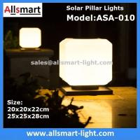Wholesale Squared Virginal Lily White Solar Pillar Lights Solar Chapiter Lamp Column Fence Lights China Factory Exporter from china suppliers