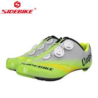 Wholesale Adjustable Buckle Mens SPD Cycling Shoes Bright Color Printed Low Wind Resistance from china suppliers