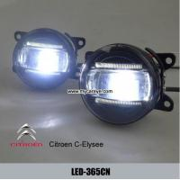Wholesale Citroen C-Elysee car led fog light assembly daytime running lights DRL from china suppliers