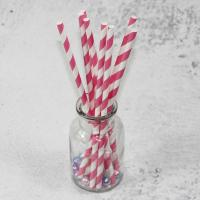 Quality Eco-friendly 6mm/8mm/10mm Custom white/black pink Biodegradable PLA long 197mm paper drinking fancy for straws material for sale