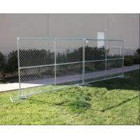 Quality 6ft x 10ft chain link mesh temporary fencing panels mesh 60mm x 60mm x 2.7mm diameter made in china for sale