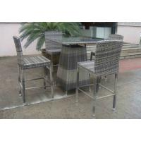 Wholesale Hand-Woven Grey Rattan Bar Set , Resin Wicker Patio Bar Furniture from china suppliers