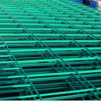 Wholesale green yellow white powder coated steel wire fence panel from china suppliers