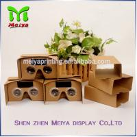 Wholesale 2 . 0 Version VR Virtual Reality Cardboard Box 3D Video Glasses + Bluetooth Controller from china suppliers