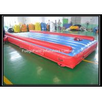 Wholesale Colorful Inflatable Air Track Gymnastics , Custom Inflatable Jumping Mats from china suppliers