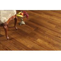 Wholesale hickory solid hardwood flooring, cinnamon color, brushed and distressed surface, popular in USA from china suppliers