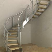 Wholesale Modern Luxury  Steel Curved Structure Staircase from china suppliers