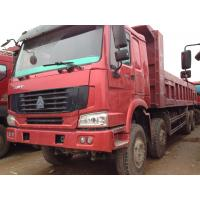 Wholesale Howo Strong Frame Single Axle Heavy Duty Commercial Trucks Left Steering 12 Wheels 8x4 Drive Type Red from china suppliers