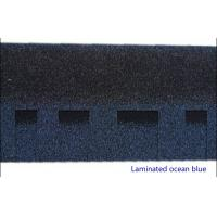 Wholesale Ocan Blue / Ink Gray / Asian Green Laminated Asphalt Shingles , Double Fiberglass Bitumen Roofing Tiles from china suppliers