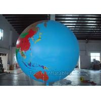 Buy cheap Multifunction Globe Round Earth Balloon / Customized Design World Helium Ball from wholesalers