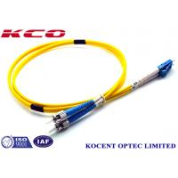 Wholesale Yellow Fiber Optic Patch Cord  SM Duplex LC/UPC-FC/UPC 3.0mm  PVC LSZH 2.0m from china suppliers
