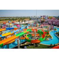 Quality Cambodia 15,000 M2 Family  Fiberglass Water Slide Water Palyground Water Park Slide for sale