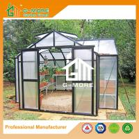 Quality 319 X 377 X 250CM Black Color 8mm Thick Polycarbonate Aluminum Greenhouse for sale