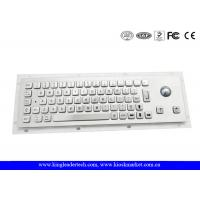 Wholesale Brushed Metal Industrial Panel Mount Keyboard With 25mm Diameter Trackball from china suppliers