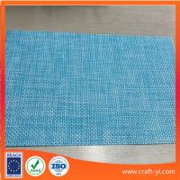 Buy cheap light blue color mix Textilene material mesh fabric 4X4 woven fabrics from wholesalers