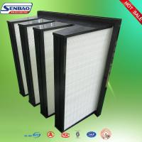 Buy cheap Medium Efficiency V Pleat  W Type Fiberglass Air Filters ABS Plastic Frame from wholesalers
