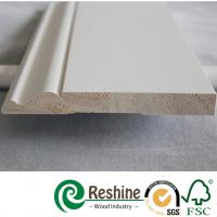 Buy cheap White primer coated pine and fir wood baseboard architrave mouldings from wholesalers