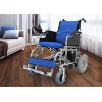 Wholesale Medical Electric Folding Wheelchair , Fold Up Wheelchair Chrome Plated Steel from china suppliers