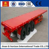 Wholesale Tri Axle Flatbed 40 FT Container Long Flatbed Trailer Green Red Yellow White Blue Color from china suppliers