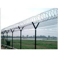 Quality Airport Protective Metal Security Fencing , Galvanized Welded Wire Mesh Rolls for sale