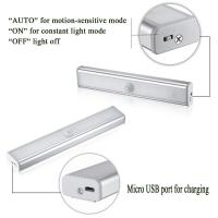 Wholesale USB Rechargeable PIR Wireless 10 LED Motion Sensor Light Bar from china suppliers
