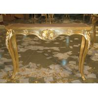 Wholesale Luxurious Hand Craft In Gold Leaf Finish Wooden Consoles For Living Room from china suppliers
