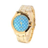 Quality Casual Lady Gold Color Geneva Wave Point Womens Quartz Watches Wateproof Feature for sale
