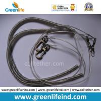 Wholesale Elastic Safety Lanyard Coiled Tether Strap W/Metal Snap Hooks from china suppliers