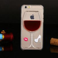 Quality 3D Liquid Flow Red Wine Glass Cocktail Bottle Case Cover For iPhone 5s 6 6 plus for sale
