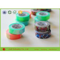 Wholesale Colorful Custom Printed Washi Tape , Decorative Masking Tape For Gift Masking from china suppliers